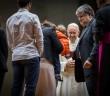 Le pape rencontrait des fidèles en marge du synode sur la famille, le 3 octobre 2015. Photo: ©Mazur/catholicnews.org.uk