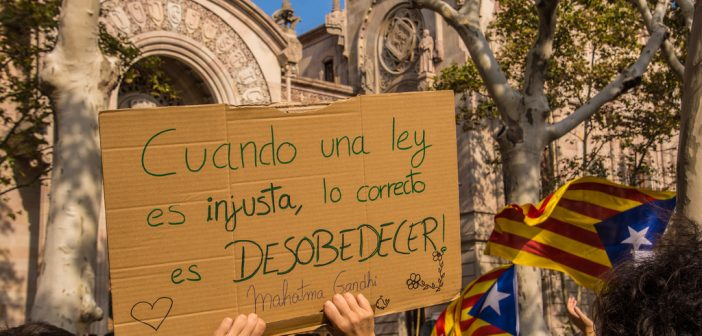 Catalogne: contre le pacifisme des esclaves, la noblesse de la non-violence